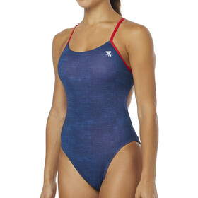 TYR Sandblasted Cutoutfit Swimsuit Women, navy